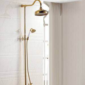 Peerless Gold Brass Bathroom Outside Shower Heads And Faucets