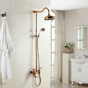 Best Sale Rose Gold Brass Rain Water Bathroom Shower Faucets