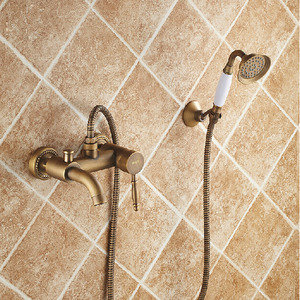 Pop Sale Antique Brass Bathroom Old Bath Shower Faucets