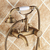 Top Rated Antique Brass Phone-Shaped Tub Shower Faucets