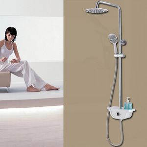 On Sale Brass Bathroom Top And Shower Faucet With Shelf