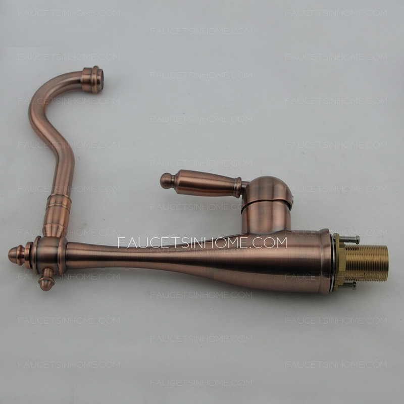 Quality Rose Gold Brass Old Kitchen Faucets