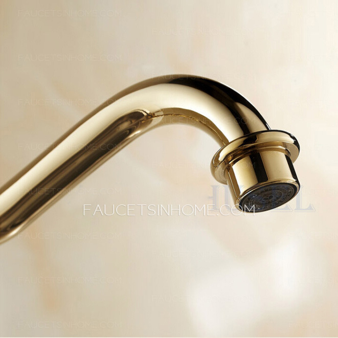 Vintage Style Kitchen Faucets: Antique Golden Rotate European Style Brass Kitchen Faucets
