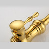Best Designed Golden Brass Kitchen Faucets Single Handle
