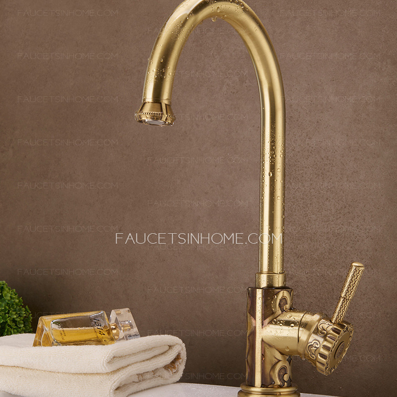 Expensive Bronze Carved Kitchen Sink Faucets Vessel Mount