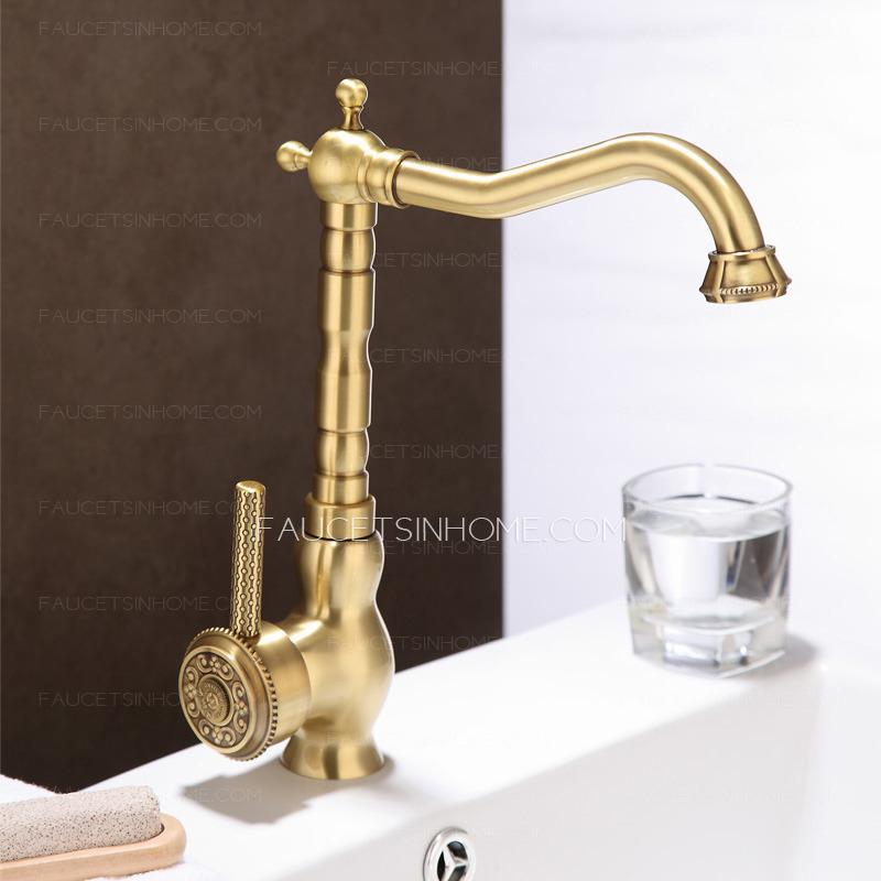 new arrival rotate antique bronze kitchen sink faucets copper faucet antique brass finish kitchen faucets bronze