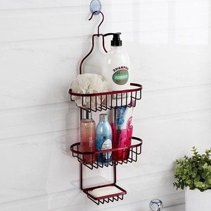 Discount Iron Double Bathroom Metal Shelves Wall Mount