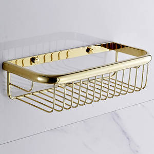 Vintage 30cm Rectangle Wire Bathroom Wall Shelves