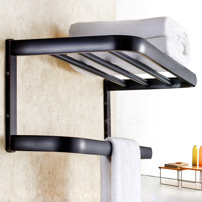 American Style Black Oil Rubbed Bronze Bathroom Wall Shelves
