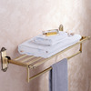 Classical Antique Bronze Brass Bathroom Metal Shelves