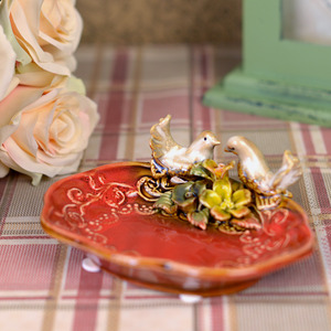 Fairy Lovely Bird Decorative Ceramic Soap Dishes