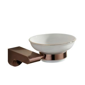 Simple Designer Rose Gold Bathroom Soap Dishes