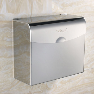 Modern Silver Stainless Steel Bathroom Toilet Paper Holder