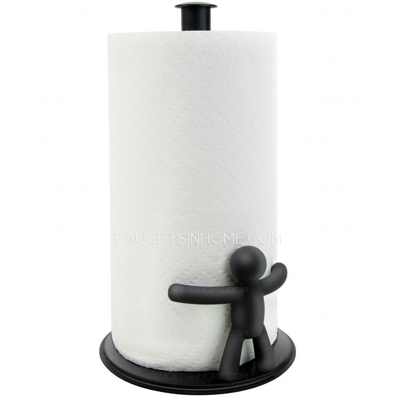 Decorative Freestanding Metal Black Toilet Paper Holders