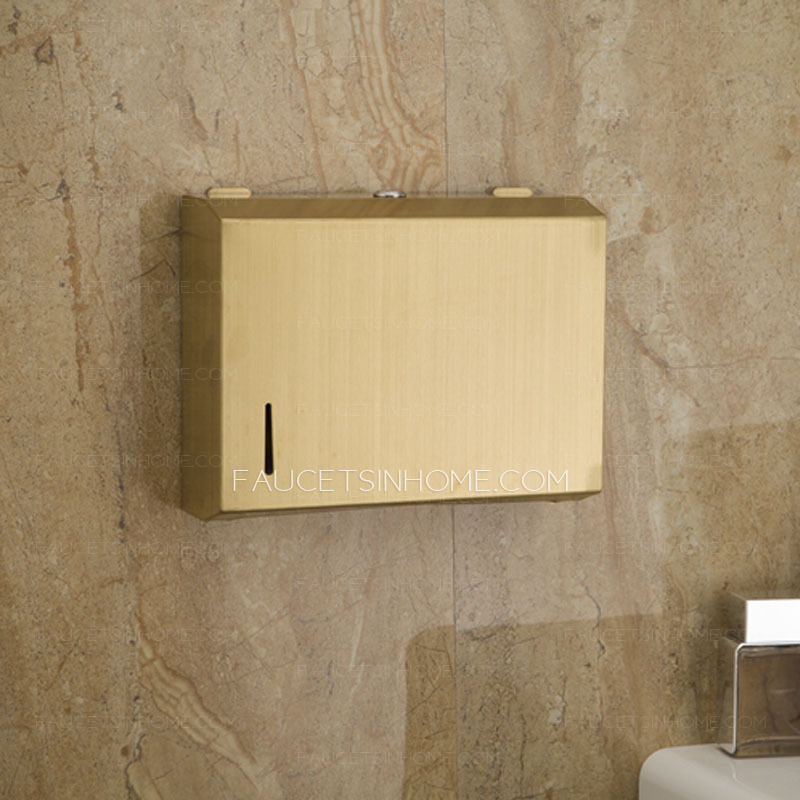 stainless steel brass toilet paper holders wall mount - Commercial Bathroom Paper Towel Dispenser