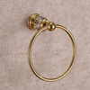 Luxury Brass Crystal Towel Rings Wall Mount