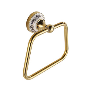 Popular Ceramic Brass Square Shaped Towel Rings