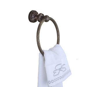 Antique Bronze Brushed Brass Towel Rings