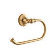 Bright Gold Brass Roll Towel Rings For Bathroom