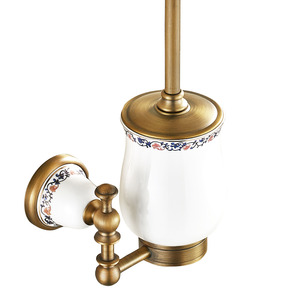 American Style Antique Brass Toilet Brush Holder