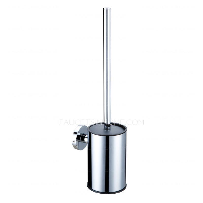 Nickel bathroom faucets - Modern Stainless Steel Metal Wall Mount Toilet Brush Holder