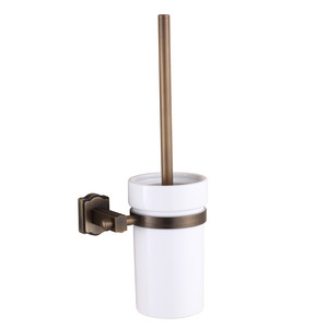 Vintage White Ceramic Bathroom Accessory Toilet Brush Holder