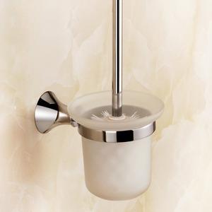 Modern Metal Glass Toilet Brush Holder Bathroom Accessory