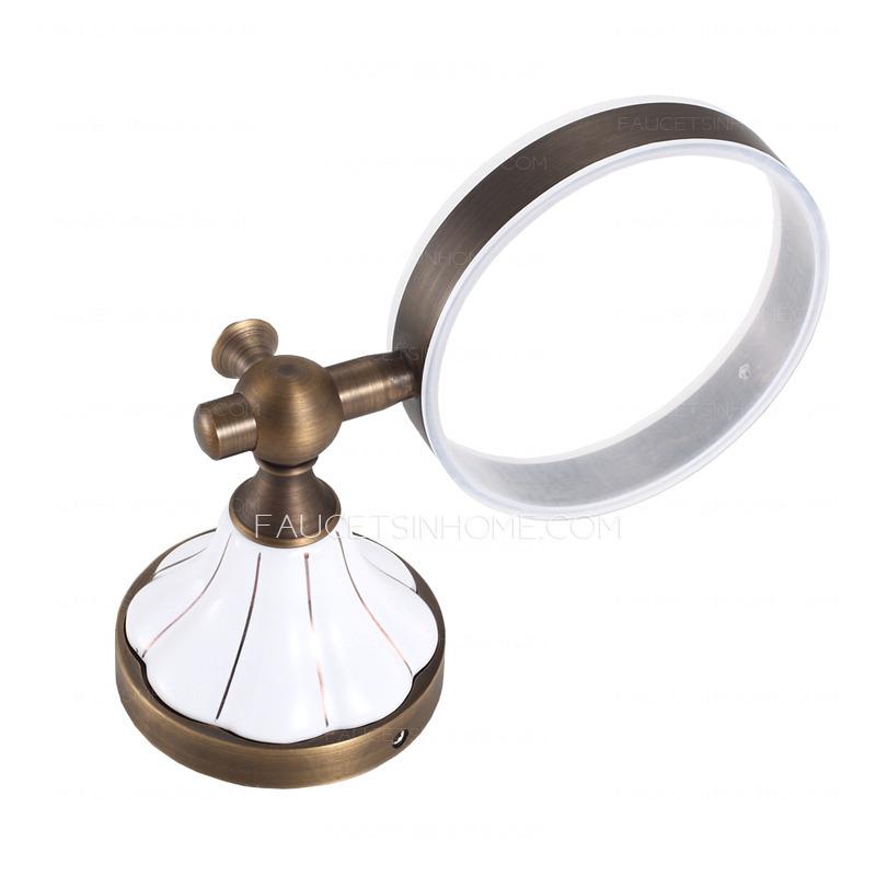 antique brass ceramic toilet brush holder for bathroom. Black Bedroom Furniture Sets. Home Design Ideas