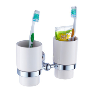 Best Ceramic Cups Brass Toothbrush Holder Bathroom Accessory