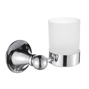 New Arrival Chrome Single Glass Cup Toothbrush Holder