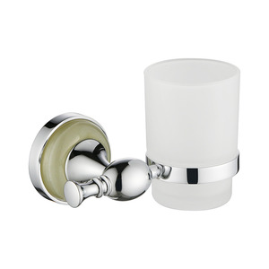 Hot Sale Brass Silver Jade Toothbrush Holder For Bathroom