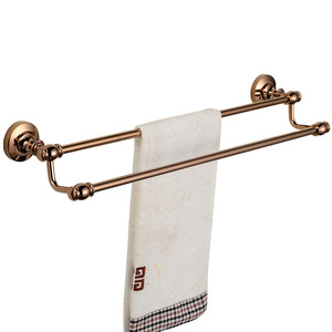 Luxury Rose Gold Double Towel Bars For Bathroom