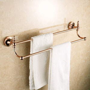 Quality Brass Rose Gold Double Towel Bars