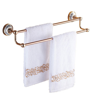 Vintage Rose Gold Ceramic Double Towel Bars