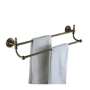 Antique Bronze Double Brass Towel Bars