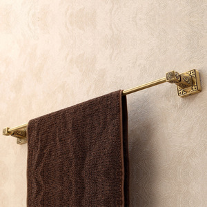 Quality Antique Brass Single Towel Bars Wall Mount