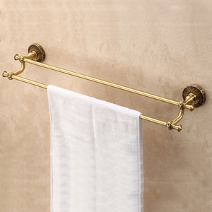 European Style Brass Double Bar Towel Bars