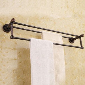 European Style Oil Rubbed Bronze Double Towel Bars