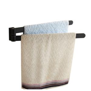 Flexible Black Painting Double Towel Bars For Bathroom