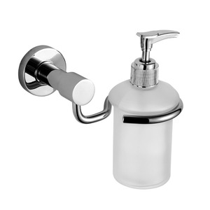 Modern Stainless Steel  Glass Bottle Soap Dispensers