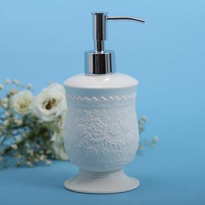 Luxury White Ceramic Antique Sitting Soap Dispenser