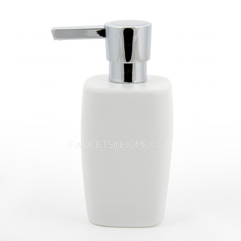 Modern White Ceramic Bathroom Soap Dispensers