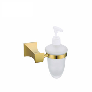 Luxury Gold Polished Brass Wall Mount Soap Dispensers