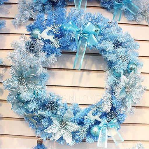 Decorative Blue 11 8 Quot Diameter Xmas Wreath
