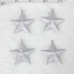 Decorative Silver Star Pendant 3.9