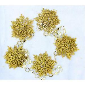 Golden 10 Pcs/Set Decorative Snow Flake 76.8