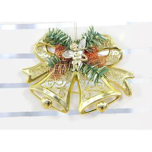 Golden Tree Decoration PVC Small Xmas Bell 5.9