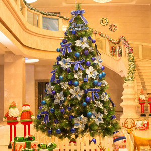 Decorative Royal Blue Ornament Environmental PVC Christmas Tree