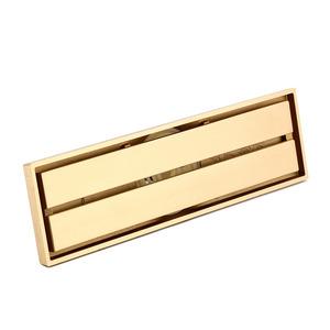 Lengthening Gold Ruler Shape Brass Shower Drains
