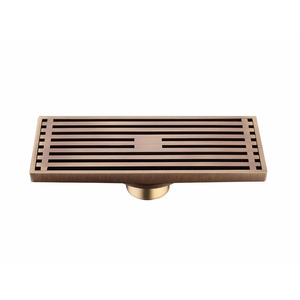 8 inch Long Antique Brass Bathroom Shower Drains